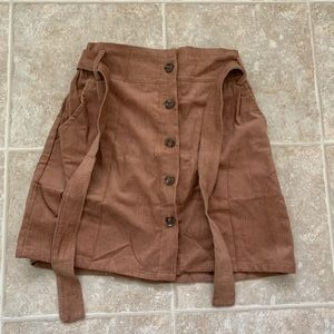 Zaful Brown, corduroy like material skirt!